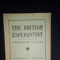 Libros: ESPERANTO. LENGUA UNIVERSAL. LITERATURA ESPERANTISTA.. Lote 126991455