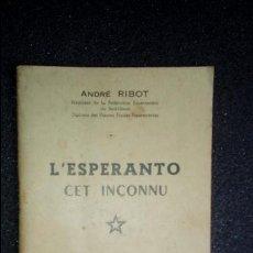 Libros: ESPERANTO. LENGUA UNIVERSAL. LITERATURA ESPERANTISTA.. Lote 126992679