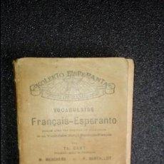 Libros: ESPERANTO. LENGUA UNIVERSAL. LITERATURA ESPERANTISTA. DICIONARIO.. Lote 127082771