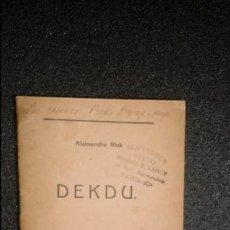 Libros: ESPERANTO. LENGUA UNIVERSAL. LITERATURA ESPERANTISTA. POESÍA RUSA EN ESPERANTO.. Lote 127084875