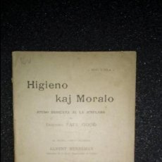 Libros: ESPERANTO. LENGUA UNIVERSAL. LITERATURA ESPERANTISTA. GRAMÁTICA DEL ESPERANTO.. Lote 127147823