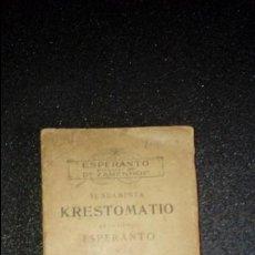 Libros: ESPERANTO. LENGUA UNIVERSAL. LITERATURA ESPERANTISTA. GRAMÁTICA ESPERANTISTA.. Lote 127148299
