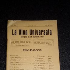 Libros: ESPERANTO. LENGUA UNIVERSAL. LITERATURA ESPERANTISTA. . Lote 127275275
