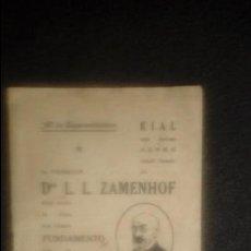 Libros: ESPERANTO. LENGUA UNIVERSAL. LITERATURA ESPERANTISTA.. Lote 127564615