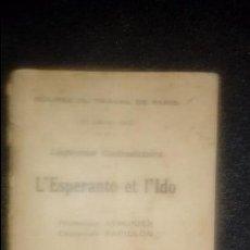 Libros: ESPERANTO. LENGUA UNIVERSAL. LITERATURA ESPERANTISTA.. Lote 127564999