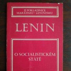 Libros: LENIN, O SOCIALISTICKEM STATE, Z POKLADNICE MARXISMU-LENINISMU. TRATADO MARXISMO Y LENINISMO 1977. Lote 199048520
