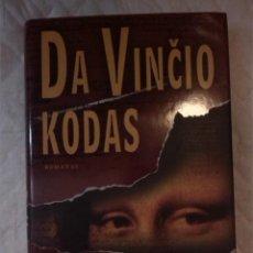 Libros: DA VINCIO KODAS. DAN BROWN. UAB JOTEMA. 2004. LITUANO. LITUANIA. Lote 207656770