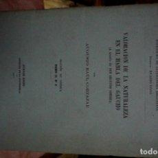 Libros: RAUL CORTAZAR AUGUSTO.VALORACION DE LA NATURALEZA EN EL HABLA DEL GAUCHO A TRAVES DE DON SEGUNDO S.). Lote 254379780