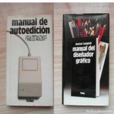 Livres: APPLE COMPUTER. MANUAL DE DISEÑADOR GRAFICO Y MANUAL DE AUTOEDICION. Lote 85667464