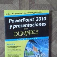 Libros: JOSÉ LUIS DÍEZ LERMA - POWERPOINT 2010 Y PRESENTACIONES PARA DUMMIES. Lote 145565902