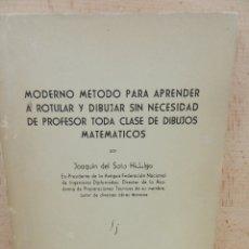 Libros: MÉTODO DE ROTULACIÓN Y DIBUJO. Lote 177077333