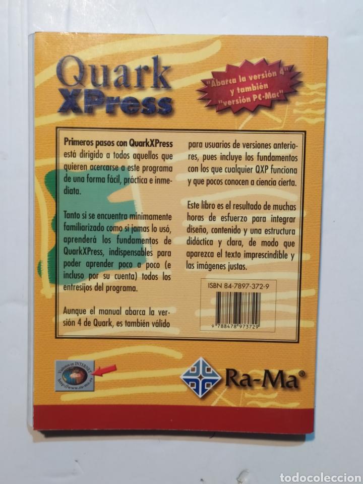 Libros: Primeros pasos con Quark Xpress. Editorial Ra-Ma - Foto 2 - 204091701