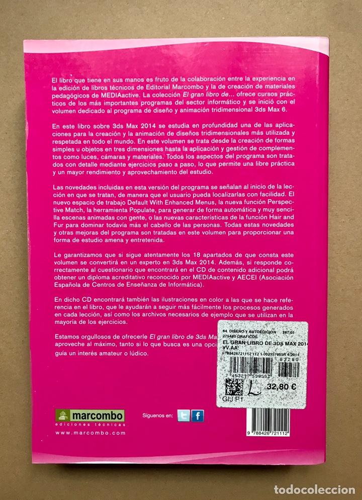 Libros: El gran libro de 3DS Max 2014 (incluye CD) - MediaActive - Marcombo - Foto 2 - 223214592