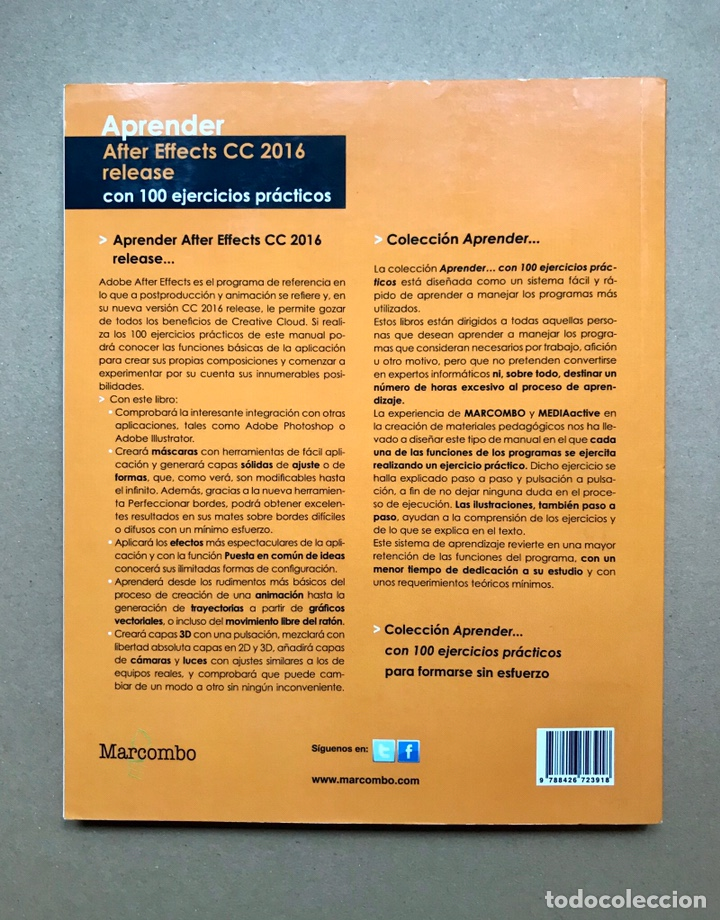Libros: Aprender After Effects CC 2016 release con 100 ejercicios prácticos - MediaActive - Marcombo - Foto 2 - 223215338