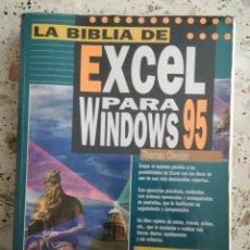 Libros: LA BIBLIA DE EXCEL PARA WINDOWS 95. ANAYA.. Lote 89419539