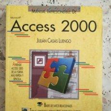 Libros: MANUAL ACCESS 2000. Lote 89421951