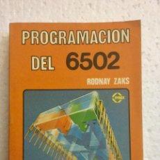 Livros: PROGRAMACIÓN DEL 6502. MARCOMBO. NUEVO. Lote 148829966