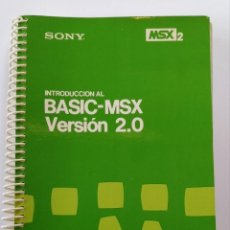 Libros: INTRODUCCIÓN AL BASIC-MSX VERSIÓN 2.0. Lote 198535606