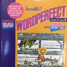 Libros: WORDPERFECT PARA TORPES. DISEÑO DE FORGES. NUEVO. Lote 251521720