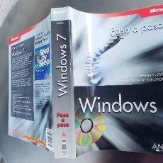 Libros: LIBRO WINDOWS 7 PASO A PASO,,ANAYA,TAPA FINA,544 PAGINAS,CONTIENE UN CD. Lote 262460740