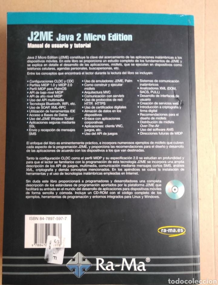 Libros: J2ME Java 2 micro edition. Manual de usuario y tutorial. Edit Ra-Ma. 2003 - Foto 2 - 95276644