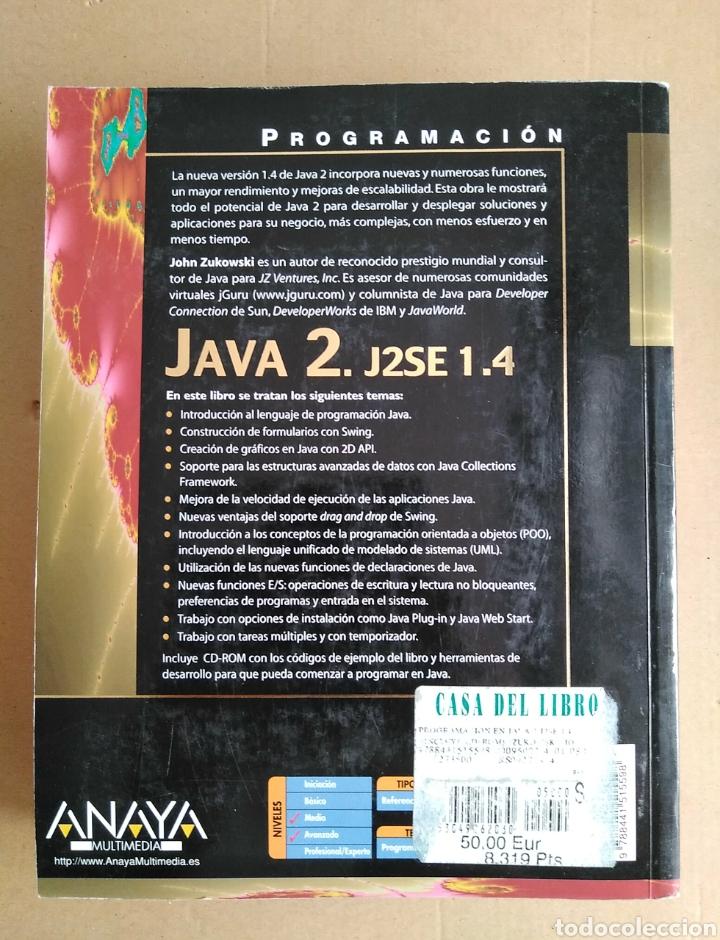 Libros: Programación Java 2 J2SE 1.4 Edit Anaya multimedia. 2003. John Zukowski - Foto 2 - 95277106