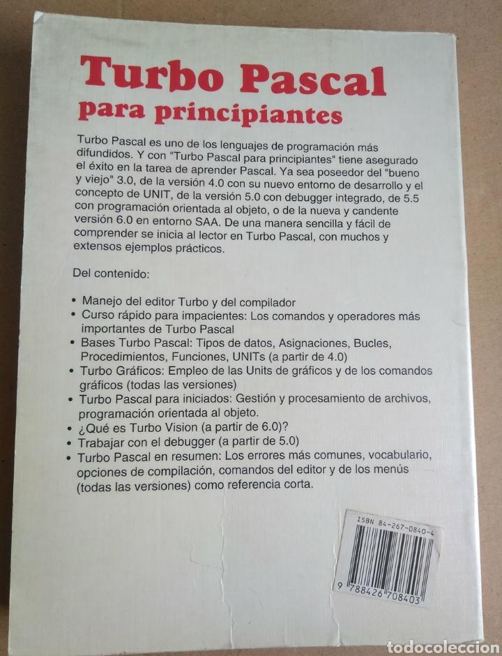 Libros: Turbo Pascal para principiantes. Hazta versión 6.0. Marcombo. Data Becker 1991. Schumann - Foto 2 - 95277384