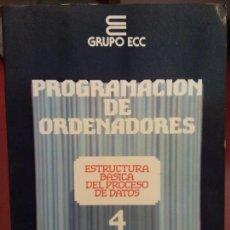 Libros: BJS.PROGRAMACION DE ORDENADORES.GRUPO ECC.EDT TESYS. . . Lote 139814750
