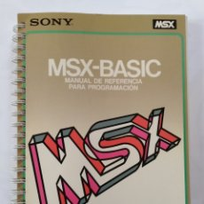 Libros: MSX-BASIC MANUAL DE REFERENCIA SONY. Lote 198207460