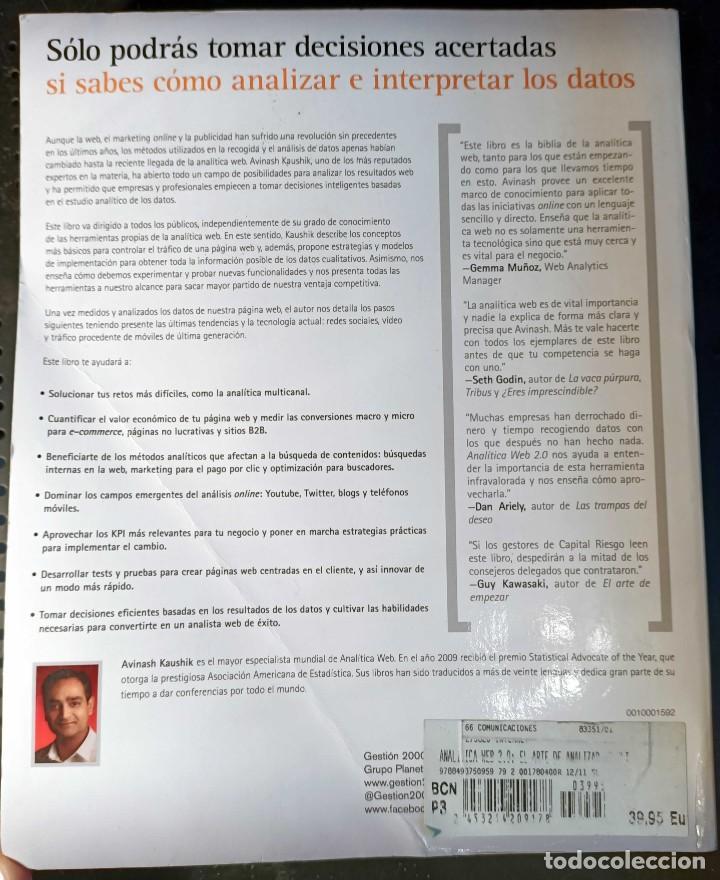 Libros: LIBRO ANALÍTICA WEB 2.0, AVINASH KAUSHIK, 2011, PARA DESCUBRIR QUE LES GUSTA A LOS CLIENTES - Foto 3 - 260047050