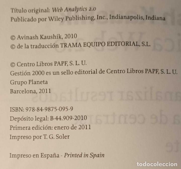 Libros: LIBRO ANALÍTICA WEB 2.0, AVINASH KAUSHIK, 2011, PARA DESCUBRIR QUE LES GUSTA A LOS CLIENTES - Foto 4 - 260047050