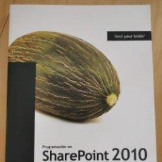 Libros: PROGRAMACIÓN EN SHAREPOINT 2010. GUSTAVO VÉLEZ Y JC GONZÁLEZ. Lote 266307138