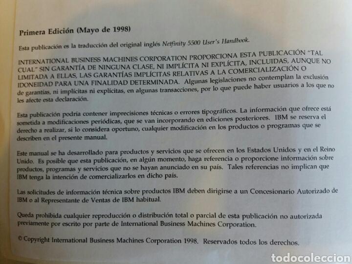 Libros: Manual Netfinity 5500.IBM vintage - Foto 2 - 53802328