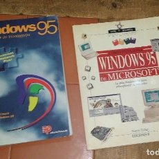 Libros: LOTE DE 2 LIBROS WINDOWS 95. Lote 143037582