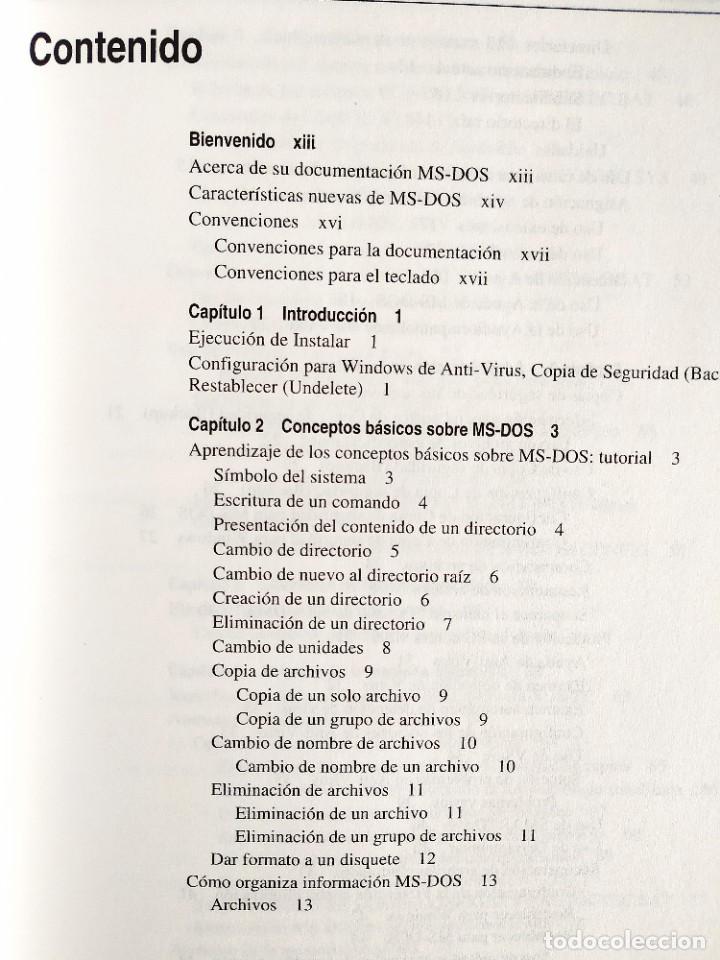 Libros: 1994 - MANUAL MS-DOS OFICIAL - CON NÚMERO DE LICENCIA ORIGINAL - Foto 2 - 242190790