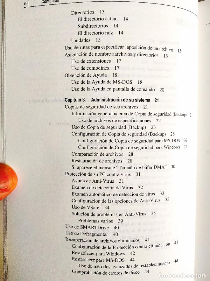 Libros: 1994 - MANUAL MS-DOS OFICIAL - CON NÚMERO DE LICENCIA ORIGINAL - Foto 3 - 242190790