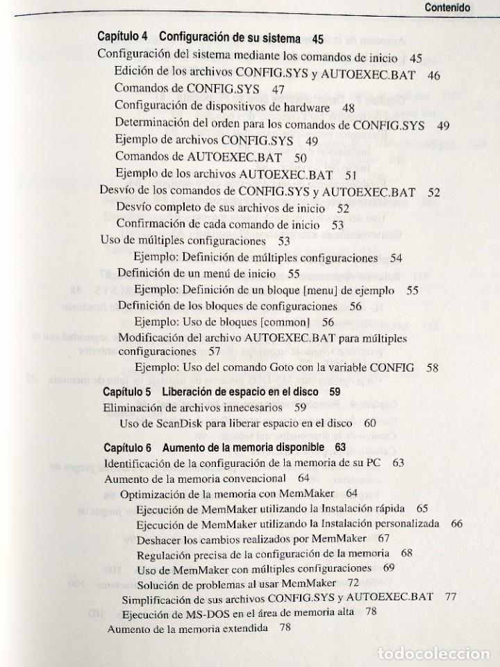 Libros: 1994 - MANUAL MS-DOS OFICIAL - CON NÚMERO DE LICENCIA ORIGINAL - Foto 4 - 242190790