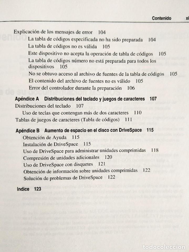 Libros: 1994 - MANUAL MS-DOS OFICIAL - CON NÚMERO DE LICENCIA ORIGINAL - Foto 6 - 242190790