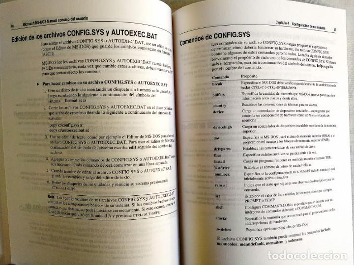 Libros: 1994 - MANUAL MS-DOS OFICIAL - CON NÚMERO DE LICENCIA ORIGINAL - Foto 7 - 242190790