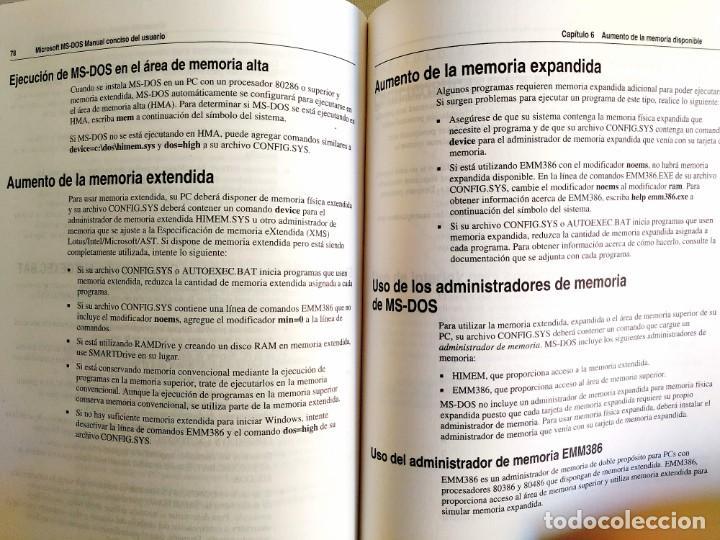 Libros: 1994 - MANUAL MS-DOS OFICIAL - CON NÚMERO DE LICENCIA ORIGINAL - Foto 8 - 242190790