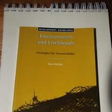 Libros: ENVIRONMENTS AND LIVEHOODS. STRATEGIES FOR SUSTAINABILITY. KOOS NEEFJES. DEVELOPMENT GUIDELINES.. Lote 26423183