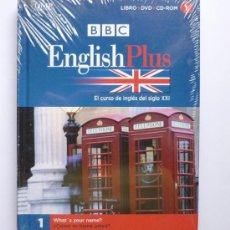 Libros: LIBRO ENGLISH PLUS - EL CURSO DE INGLES DEL SIGLO XXI BBC - LIBRO + DVD + CD ROM - NUMERO 1 NUEVO. Lote 26345445