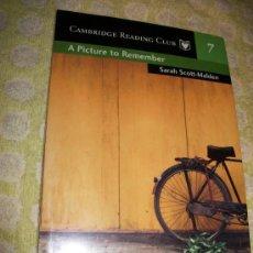 Libros: A PICTURE TO REBEMBER + AUDIOLIBRO – SARAH SCOTT MALDEN – LEVEL 2 - SM CAMBRIDGE UNIVERSITY PRESS . Lote 26941427