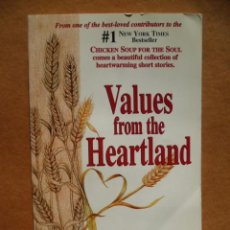 Libros: VALUES FROM THE HEARTLAND, POR BETIE B. YOUNGS PH.D., ED.D, 250 PAG. BEST-SELLER, (EN INGLES).. Lote 25590894
