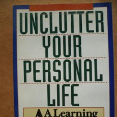 Libros: UNCLUTTER YOUR PERSONAL LIFE, SUSAN WRIGHT, 1993, (EN INGLES). Lote 25590940