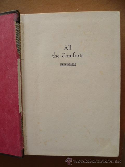 Libros: ALL THE COMFORTS / a novel by Joseph Papaleo/ 1967 / 310 pag. (en inglés). - Foto 2 - 27770819