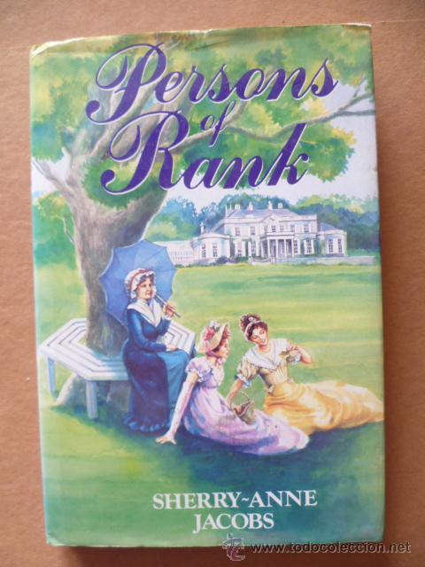 PERSONS OF RANK / SHERRY - ANNE JACOBS / 1992 / 182 PAG. / EN INGLES. (Libros Nuevos - Idiomas - Inglés)