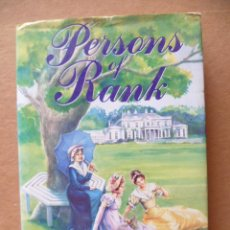 Libros: PERSONS OF RANK / SHERRY - ANNE JACOBS / 1992 / 182 PAG. / EN INGLES.. Lote 27771842