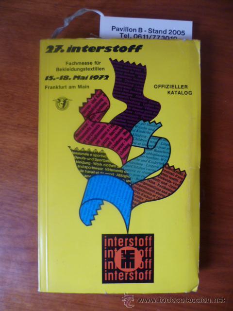 27. INTERSTOFF - 15-18 MAI 1972, OFFIZIELLER KATALOG (Libros Nuevos - Idiomas - Inglés)