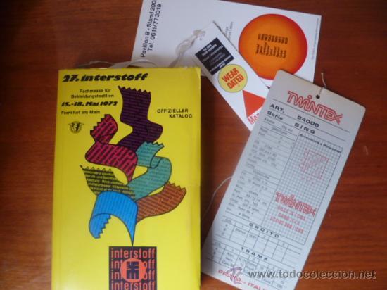 Libros: 27. INTERSTOFF - 15-18 MAI 1972, Offizieller Katalog - Foto 2 - 32088060